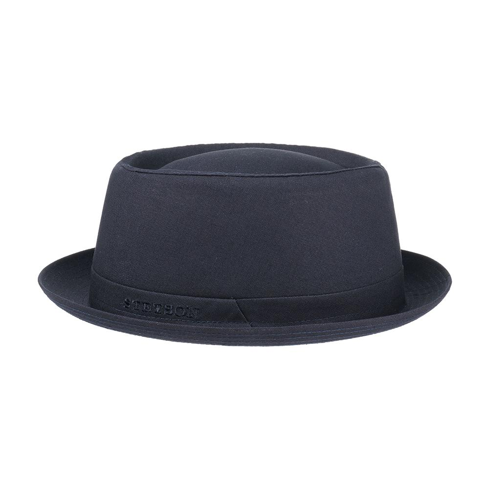 Stetson - Athens Cotton Pork Pie - Fedora Hat - Navy