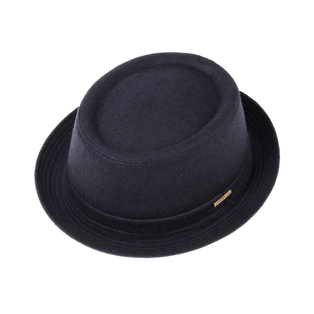 Stetson - Pork Pie Wool - Fedora - Navy