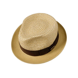 Stetson - Ribbon Toyo Player - Straw Hat - Nature/Beige