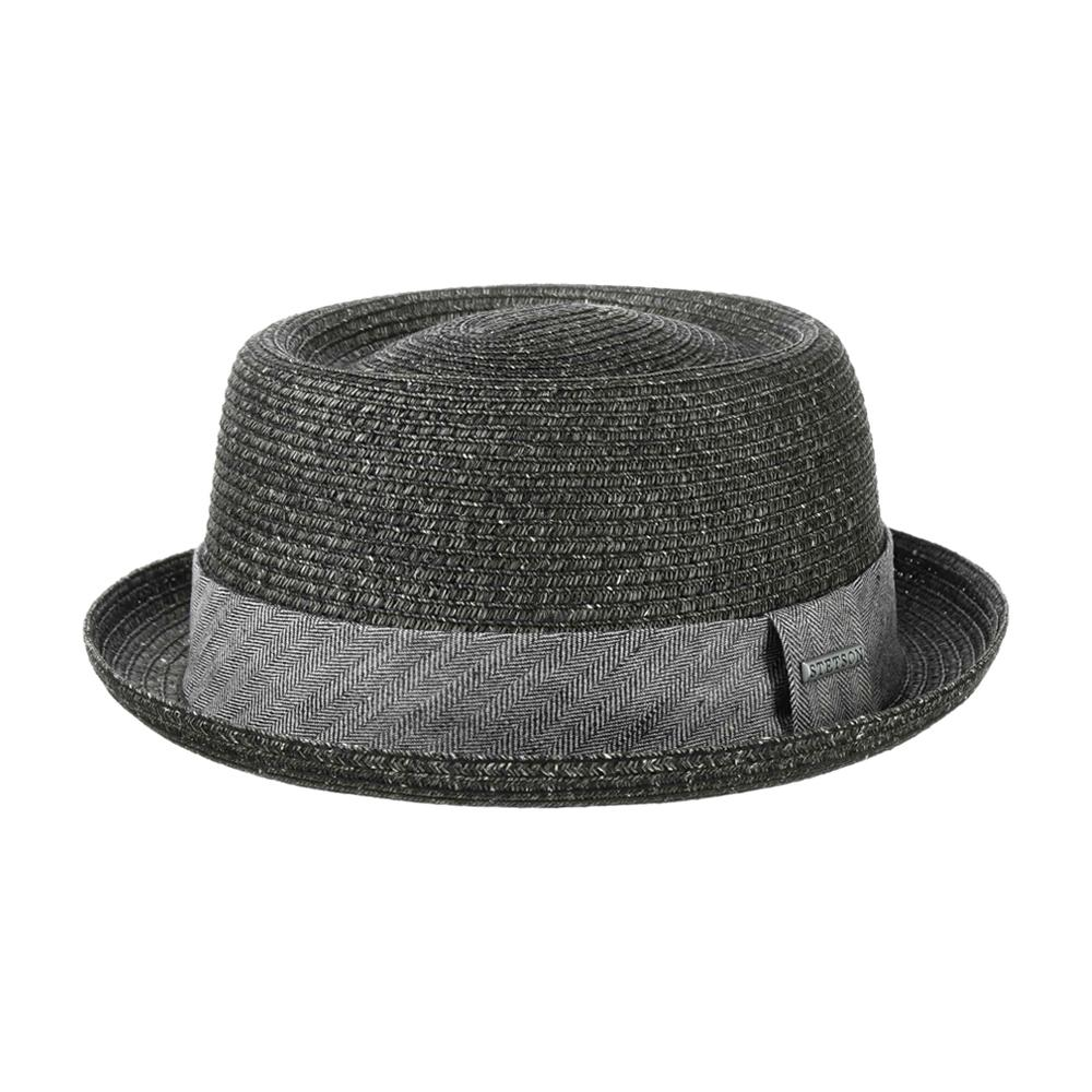Stetson - Robstown Toyo Pork Pie - Straw Hat - Black
