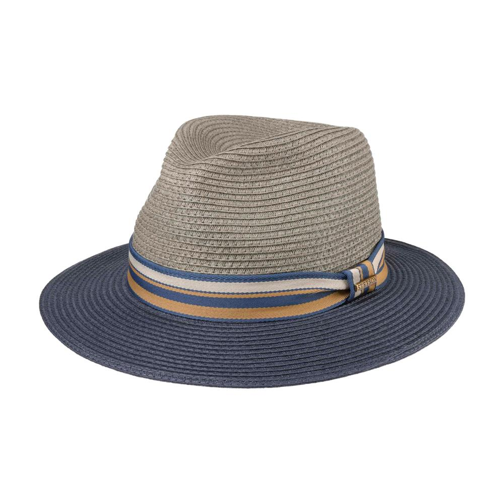 Stetson - Romaro Traveller Toyo - Straw Hat - Grey/Navy