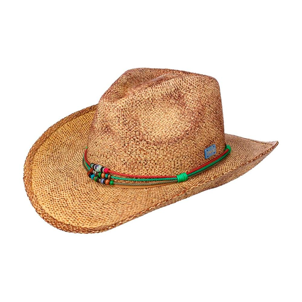 Stetson - Townsend Toyo Western Hat - Straw Hat - Brown Mottled