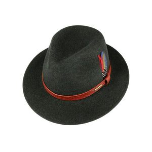 Stetson - Vernando Traveller Woolfelt Mix - Felt Hat - Dark Green