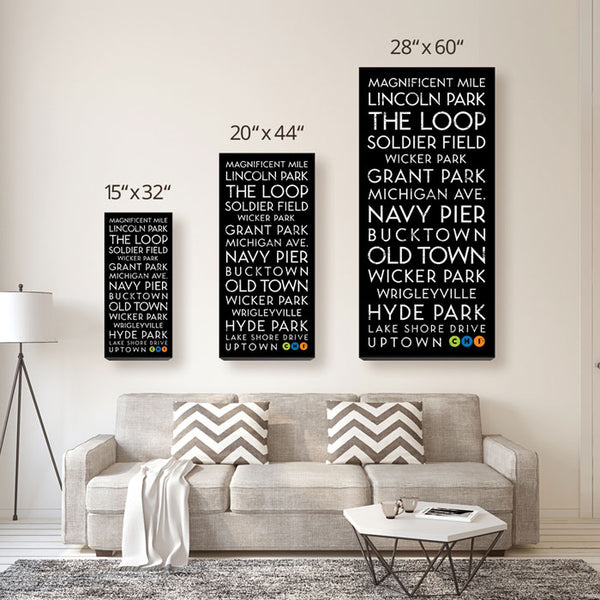 Chicago, IL Canvas Wall Art (Free Shipping)