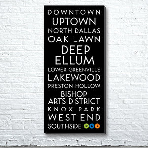Dallas, TX Canvas Wall Art (Free Shipping)