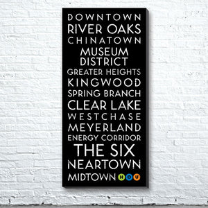 Houston, TX Canvas Wall Art (Free Shipping)