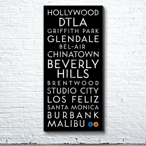 Los Angeles, CA Canvas Wall Art (Free Shipping)