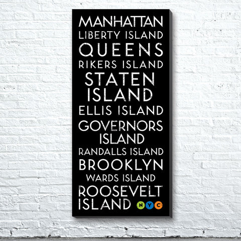 New York Islands Canvas Wall Art (Free Shipping)