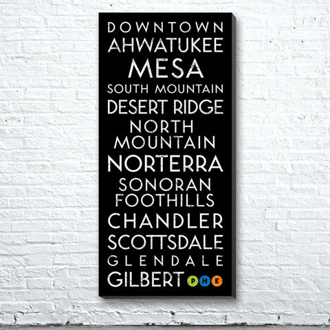 Phoenix, AZ Canvas Wall Art (Free Shipping)