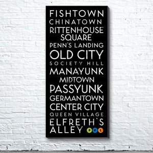 Philadelphia, PA Canvas Wall Art (Free Shipping)