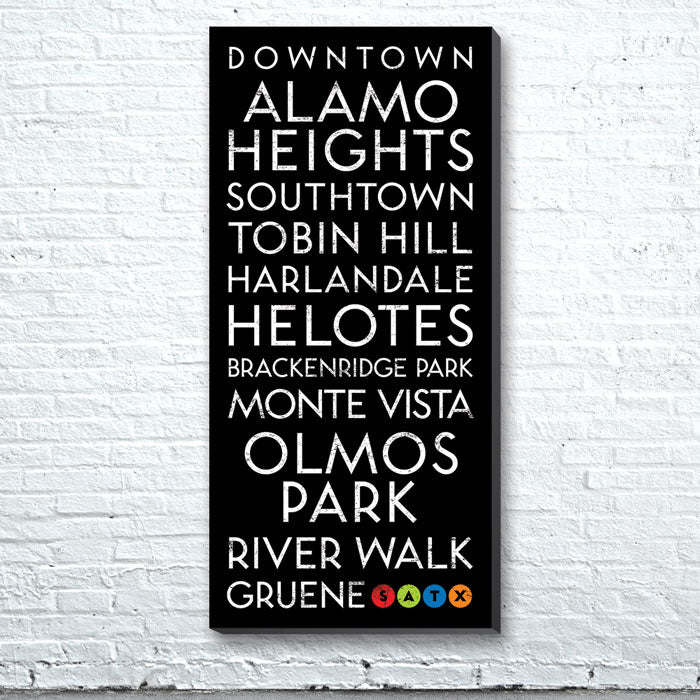 San Antonio, TX Canvas Wall Art (Free Shipping)