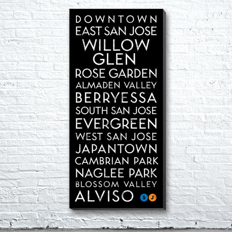 San Jose, CA Canvas Wall Art (Free Shipping)