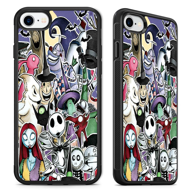 Nightmare Before Christmas Phone Case.Amazing Collage Nightmare Before Christmas Phone Case Cover For Iphone