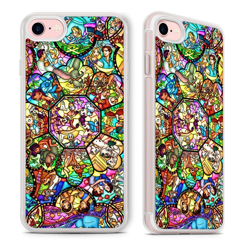 new concept a8382 d95c7 disney stained glass Phone Case Cover for iPhone