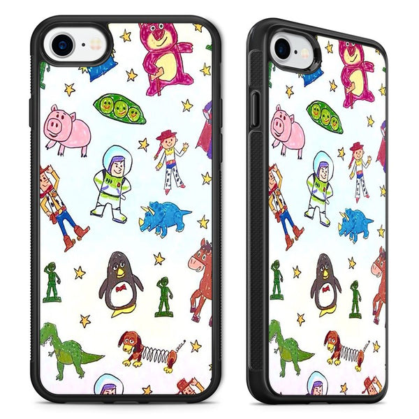 5c8749803f Disney Toy Story Cute Characters Art Phone Case Cover for iPhone ...