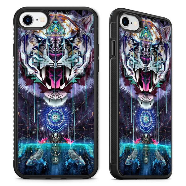 e21f431a Psychedelic Tiger Lion Trippy Abstract Art Phone Case Cover for iPhone