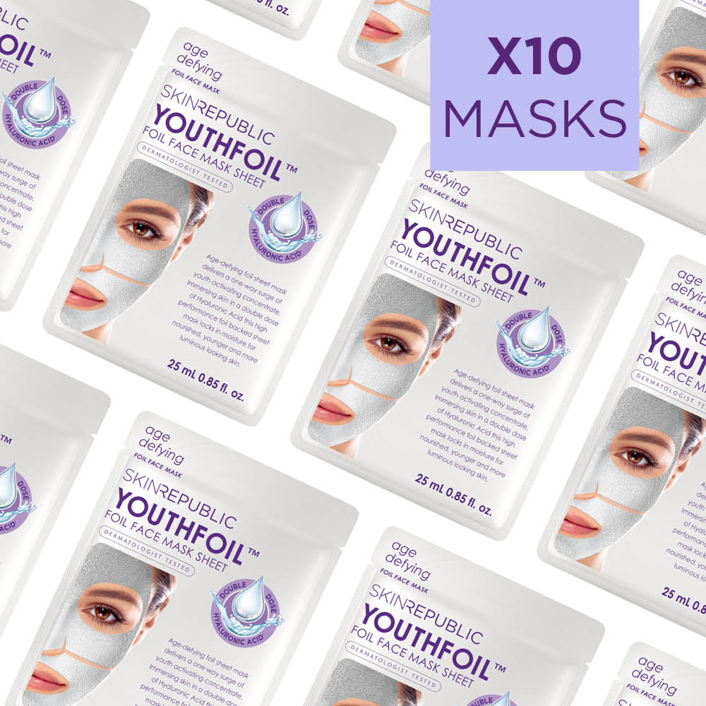 Youthfoil Face Sheet Mask (Pack Of 10)