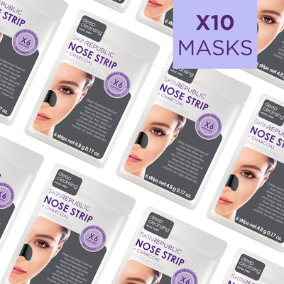 Nose Strip + Charcoal (Pack Of 10)