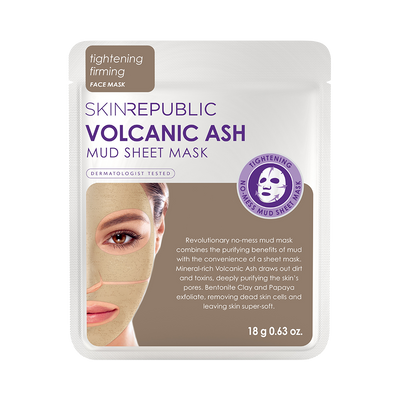 Volcanic Ash Mud Sheet Mask Face