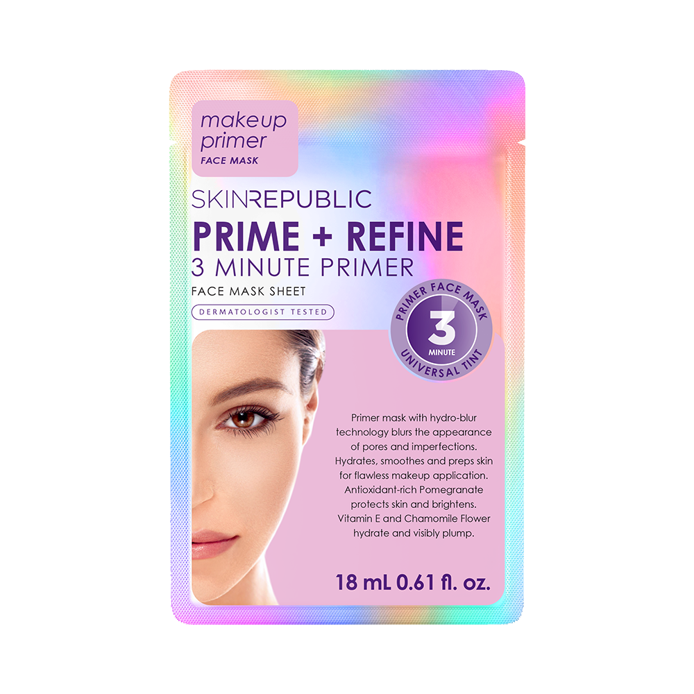 Prime + Refine Face Sheet Mask