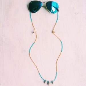 No. 08: SUNNYCORD | TURQUOISE - GOLD
