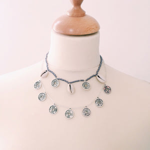 No. F: NECKLACE | LONG | SILVER- COINS