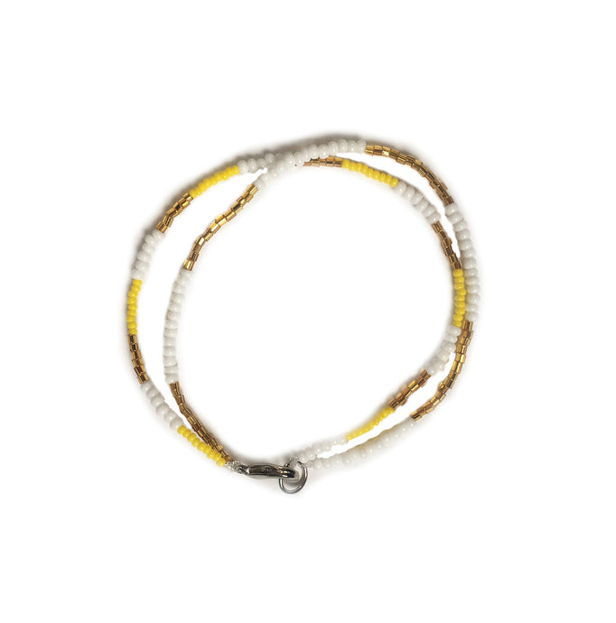 Anklet yellow white gold