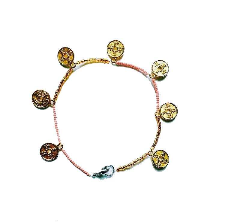 No. A1: ANKLET | PINK - GOLD