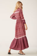 Nivi Maxi Dress - Burgundy