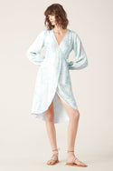 Saras Wrap Dress - Blue