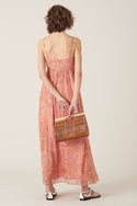 Sisandia Silk Maxi Dress - Pink