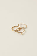 Nalani Stacking Rings - Gold