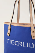 Signature Canvas Mini Tote - Navy