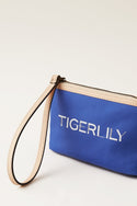 Signature Canvas Mini Clutch - Navy