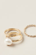 Panu Stacking Ring - Pearl