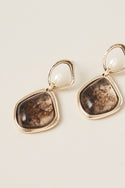 Veda Small Drop Earring - Onyx