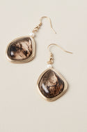 Veda Large Drop Earring - Onyx