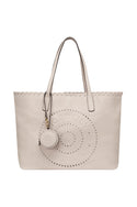 Tigerlily Leather Tote - Stone