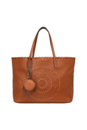 Tigerlily Leather Tote - Tan