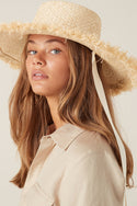 Kala Raw Edge Hat - Natural