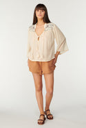 La Camella Juliana Blouse - Whisper White