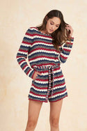 Bisma Knitted Longsleeve Playsuit - Multi