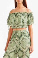 Delon Frill Top - Green