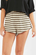 Oasis High Waisted Short - Stripe