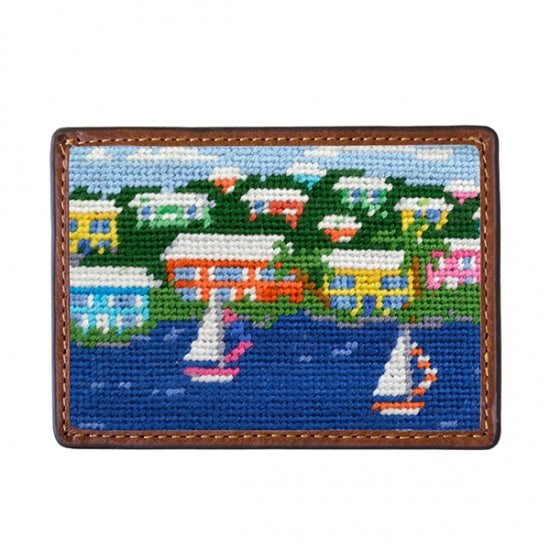 Island Time Needlepoint Card Wallet