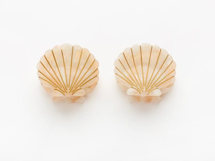 Ursula Shell Clips in Pink