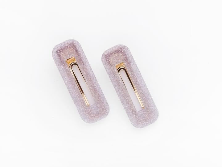 Greta Clip in Purple Glitter