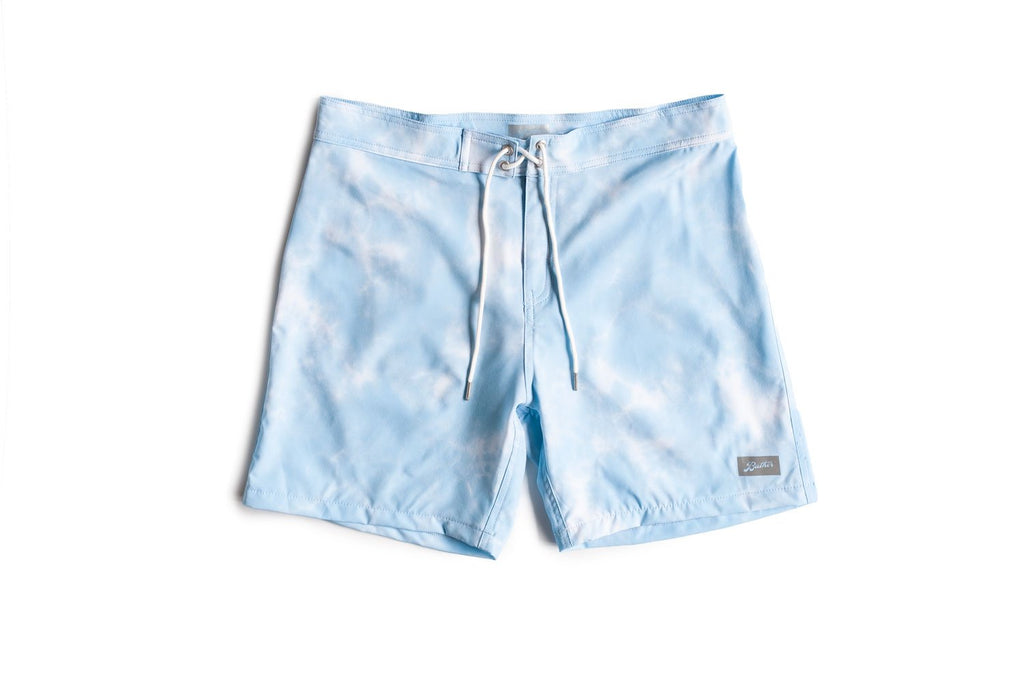 Baby Blue Shibori Technical Surf Trunk