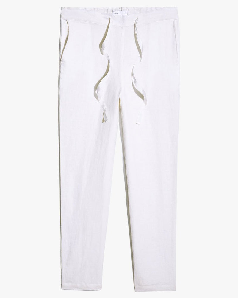 Cory Linen Pants in White