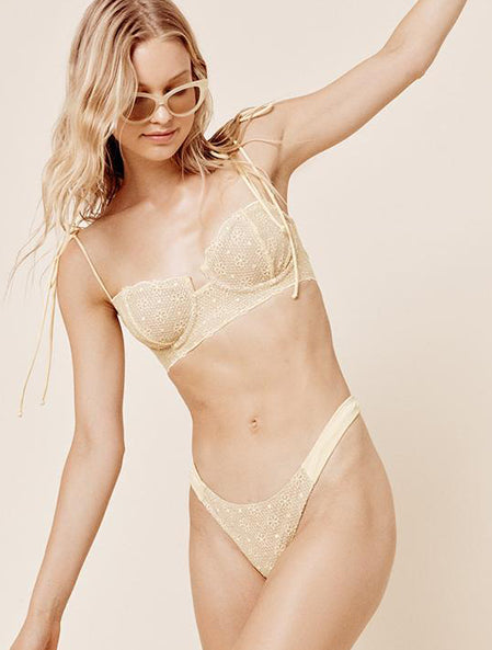 Elle Lace Bottom in Lemonade